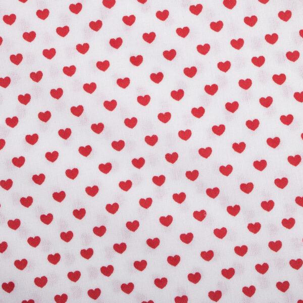 Witte bandana voor honden met rode hartjes print. Monsieur Beaux - Accessoires voor honden