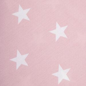 Roze bandana met witte sterren. De bandana voor honden kan heel eenvoudig op de gewenste lengte geknoopt worden. Verkrijgbaar in 6 maten van XS tot XXL, voor zowel de allerkleinsten als de grootsten.