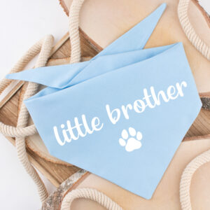 hondenbandana, bandana hond, little brother, baby
