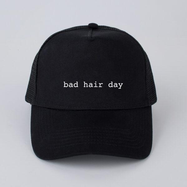 pet, bad hair day, zwart