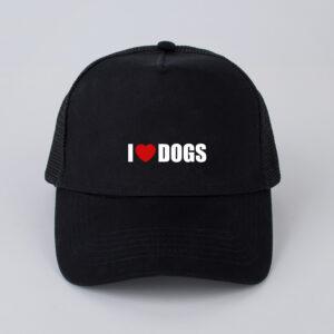 pet, I love dogs, zwart