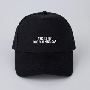 pet, this is my dog walking cap, zwart
