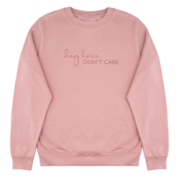 dog hair don't care sweater, dog mom, sweater