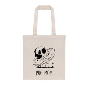 mopshond, tas, tote bag, pug, pug mom, mopshond tote bag
