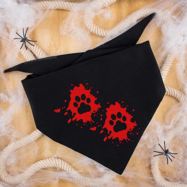 hondenbandana, halloween, bloed, pootjes
