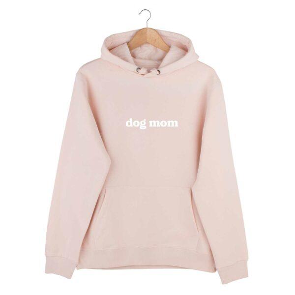dog mom hoodie, roze