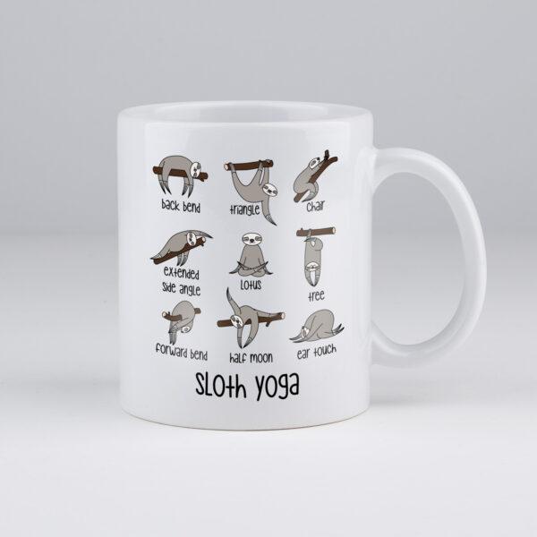 koffietas, sloth, yoga