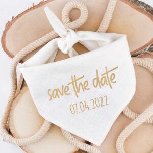 bandana, hond, huwelijk, aankondiging, save the date, trouw, hondenbandana