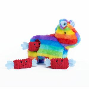 unicorn piñata, zippypaws, hondenspeeltje, speelgoed voor honden