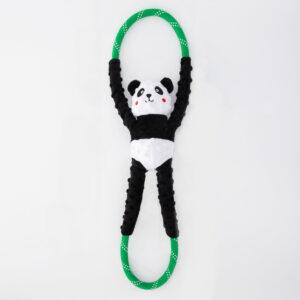 speelgoed, hond, panda, trekspelletje, pieper, touw, trektouw
