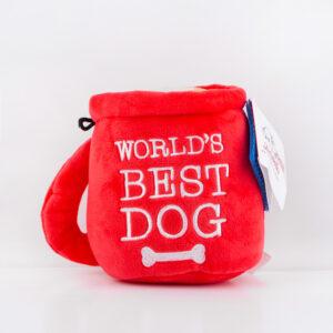 hond, speeltje, speelgoed, world's best dog, kerstmis, kerstspeelgoed