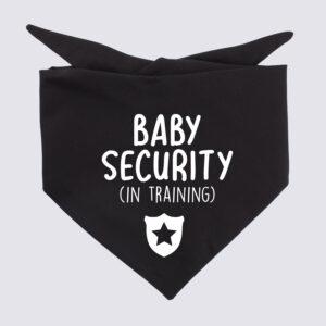 baby security in training, zwangerschapsaankondiging, baby op komst, hondenbandana