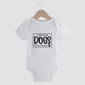 babyromper,i prefer dogs over people, dog mom, babyborrel, cadeau baby, hond