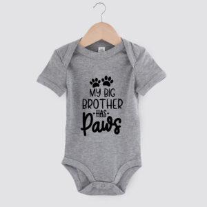 babyromper,my big brother has paws, dog mom, babyborrel, cadeau baby, hond