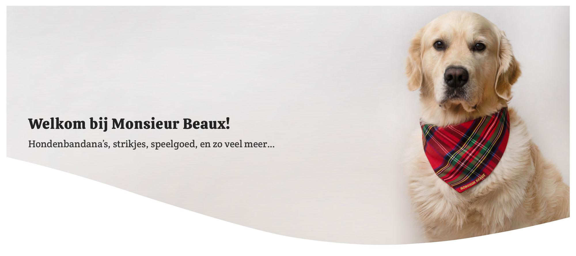 monsieur beaux, bandana hond, strikje hond, accessoires, hond, hondenspeelgoed